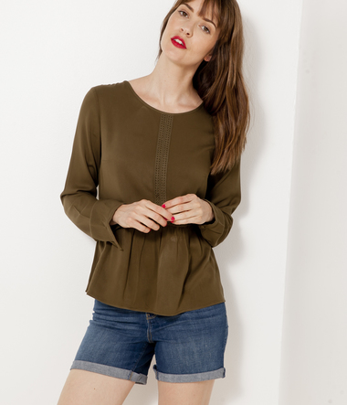 Blouse femme galons