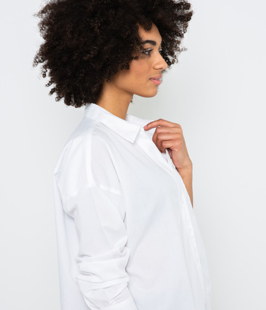 Chemise oversize blanche femme