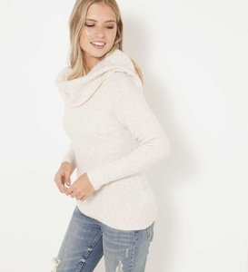 Pull femme col bandeau