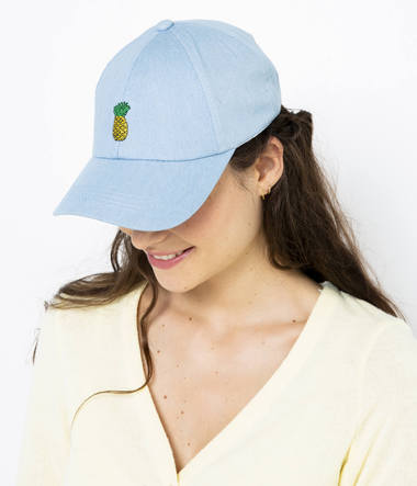 Casquette broderie ananas femme