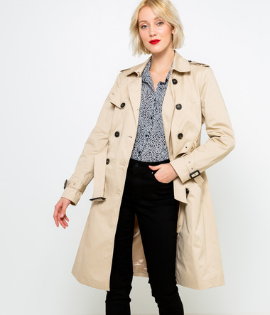 Trench beige femme