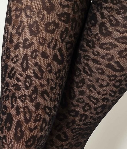 Collants imprimés léopards 40 deniers femme