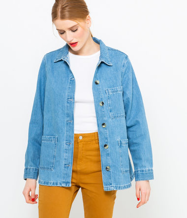 Veste femme utility denim light