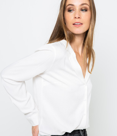 Chemise col tailleur femme