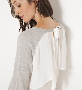 Pull dos voile femme