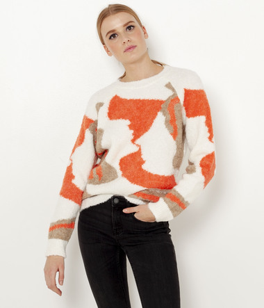 Pull tricolore femme