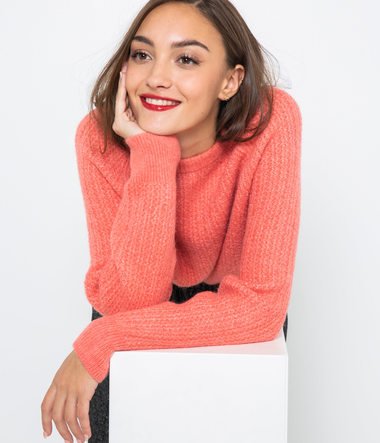 Pull maille recyclée femme
