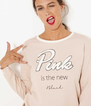 Sweat message femme