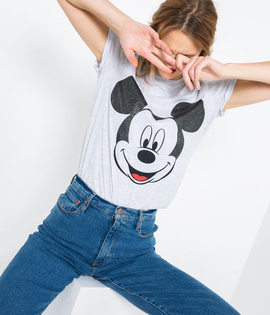 T-shirt Mickey 100% coton femme