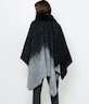 Poncho col fausse fourrure femme