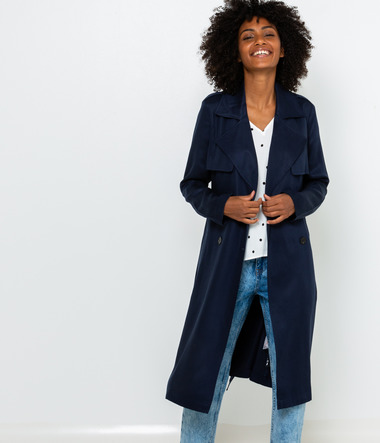 Trench femme viscose responsable
