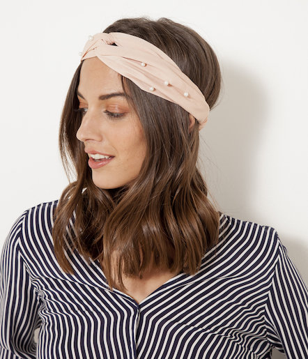 Headband perles femme