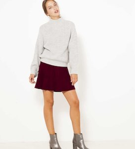 Jupe patineuse maille tricot femme