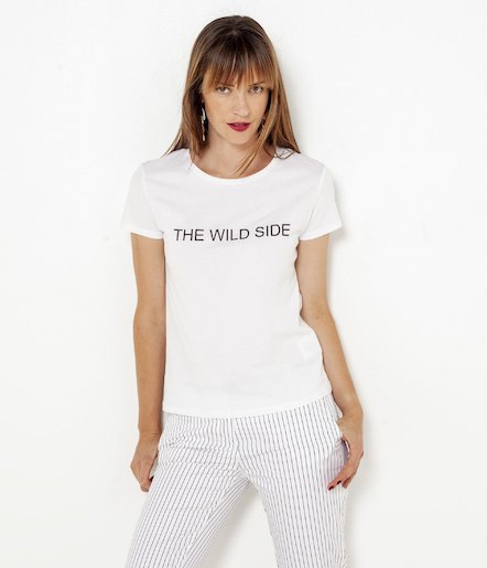T-shirt femme 100% coton « The Wild Side »