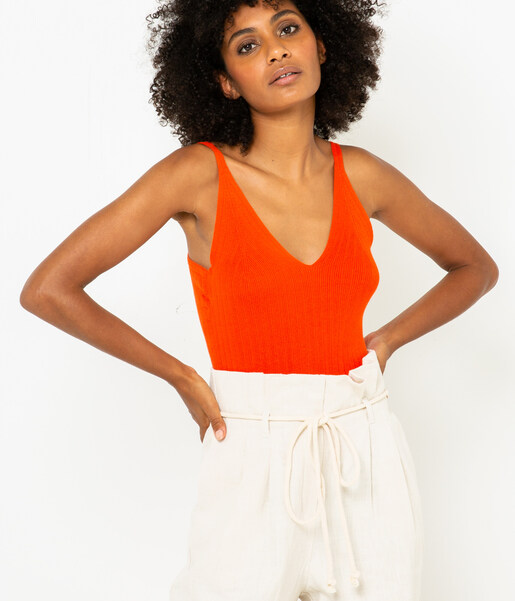 Top maille femme