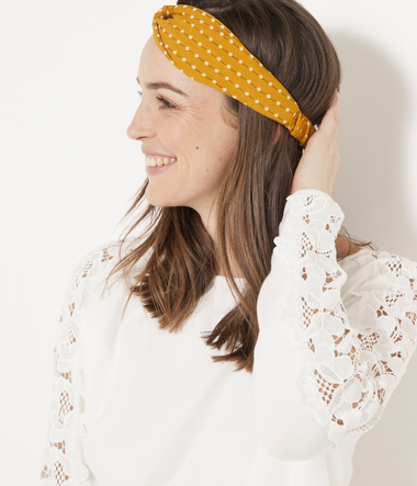 Headband curry imprimé fantaisie femme