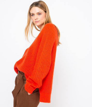 Pull maille femme