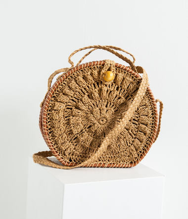 Sac rond effet paille