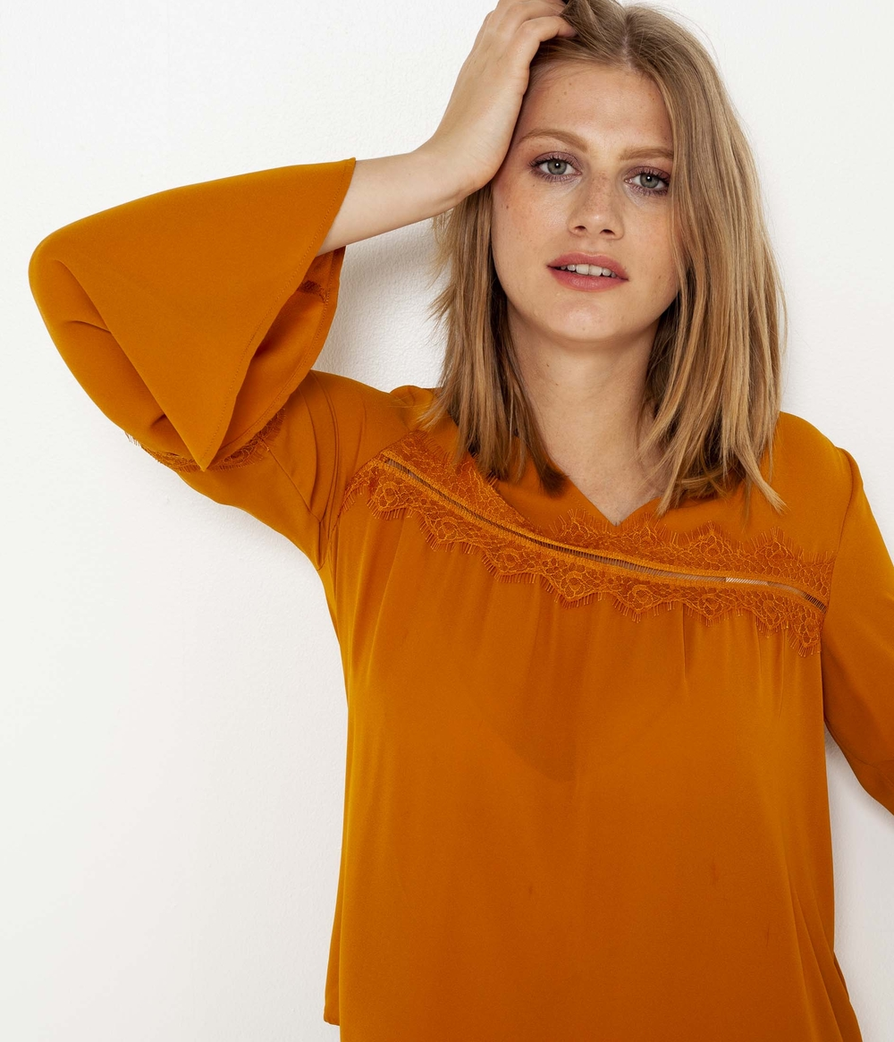 Blouse manches pagodes femme