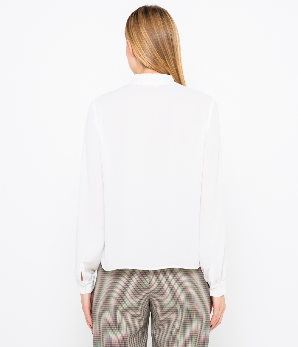 Chemise col montant femme
