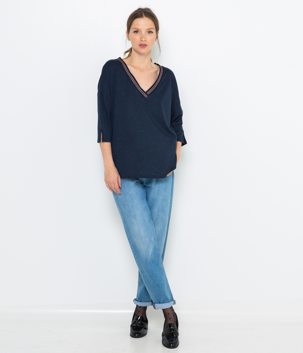 Top manches 3/4 femme