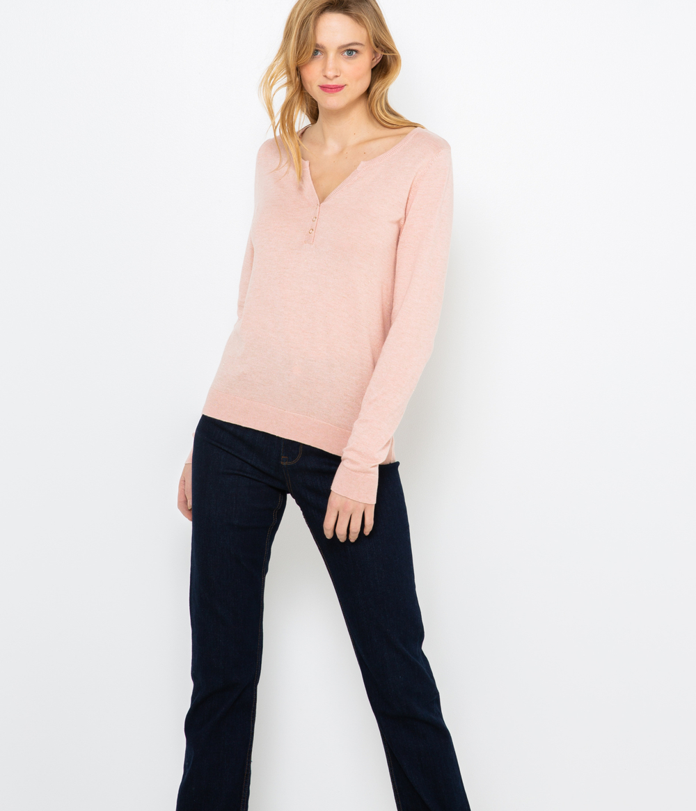 Pull fin col tunisien femme