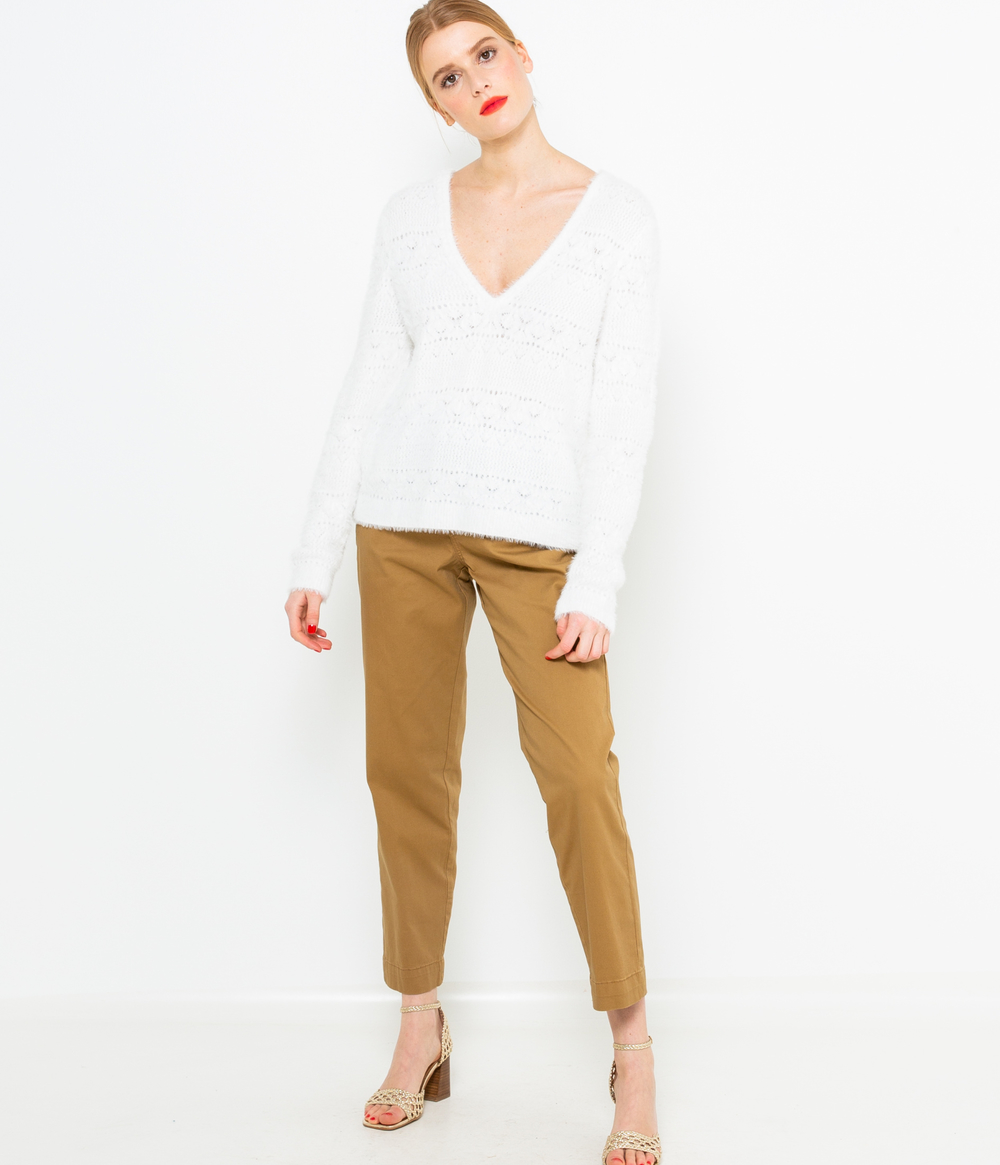 Pull maille shaggy femme